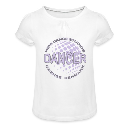 Globe Dancer - Pige T-shirt med flæser