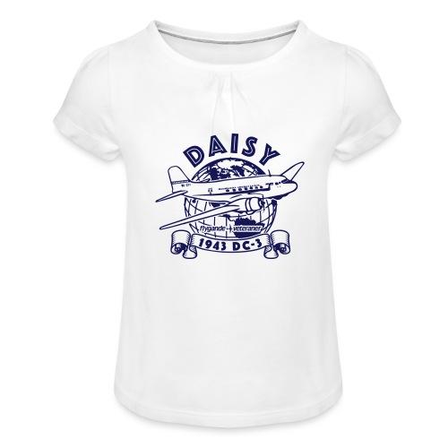 Daisy Globetrotter 1 - T-shirt med rynkning flicka