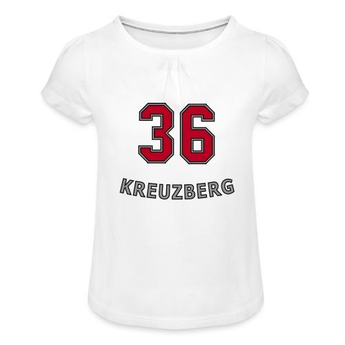 KREUZBERG 36 - Mädchen-T-Shirt mit Raffungen