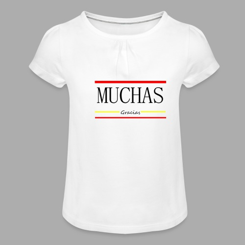 MUCHAS GRACIAS - Trend Eddition - Girl's T-Shirt with Ruffles