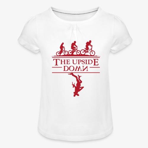 upside down - Koszulka dziewczęca z marszczeniami