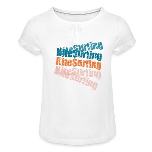 Kiteboard | Zensitivity beach - Meisjes-T-shirt met plooien