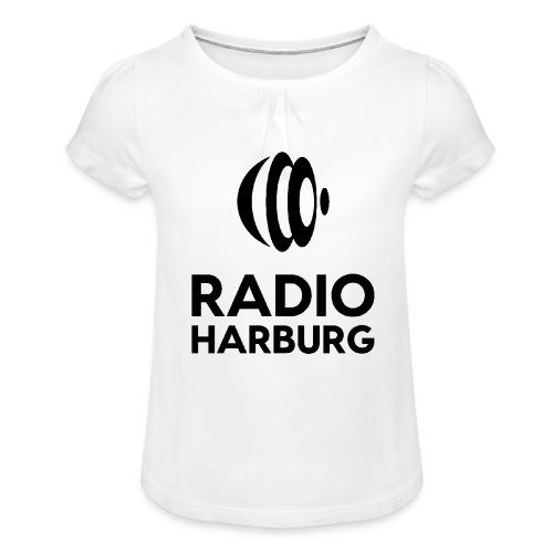 Radio Harburg - Mädchen-T-Shirt mit Raffungen