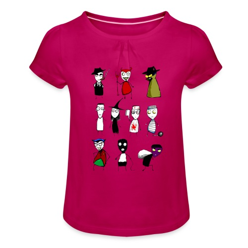 Bad to the bone - Girl's T-Shirt with Ruffles