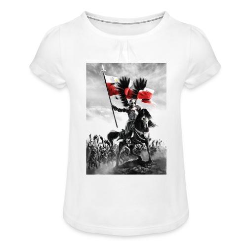 husaz na koniu - Koszulka dziewczęca z marszczeniami