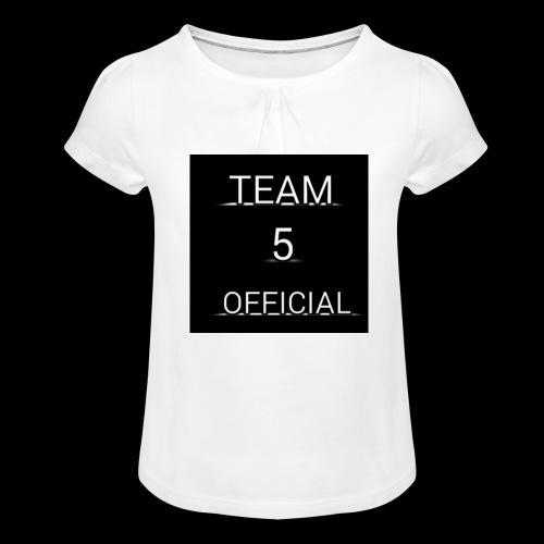 Team5 official 1st merchendise - Girl's T-Shirt with Ruffles