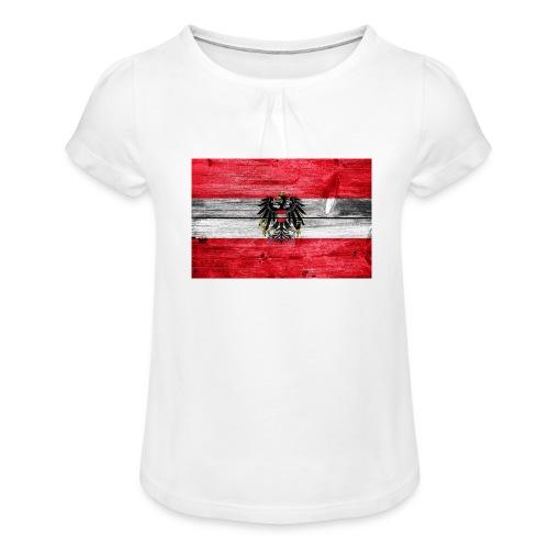 Austria Holz - Mädchen-T-Shirt mit Raffungen