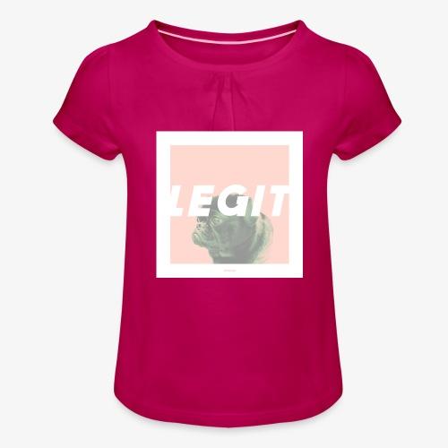 LEGIT #03 - Mädchen-T-Shirt mit Raffungen