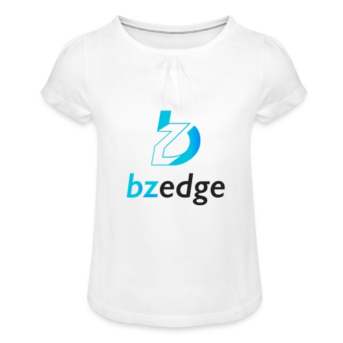BZEdge Cutting Edge Crypto - Girl's T-Shirt with Ruffles