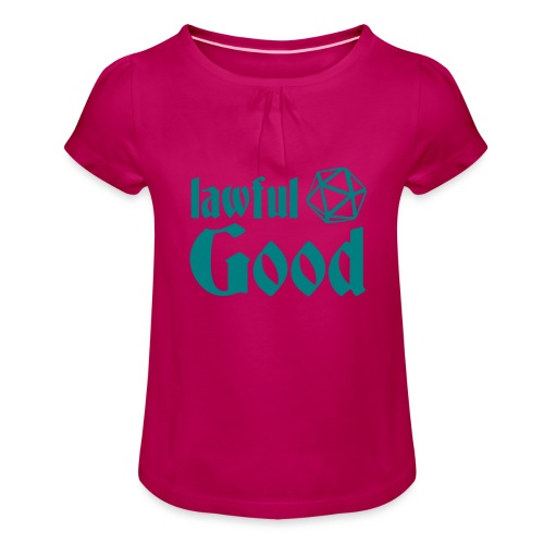 lawful good - Girl's T-Shirt with Ruffles