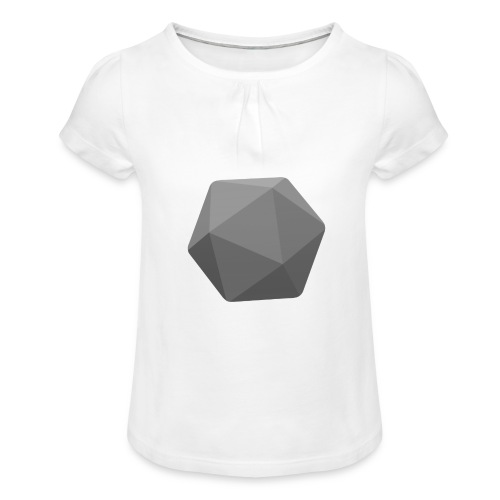 Grey d20 - D&D Dungeons and dragons dnd - Tyttöjen t-paita, jossa rypytyksiä
