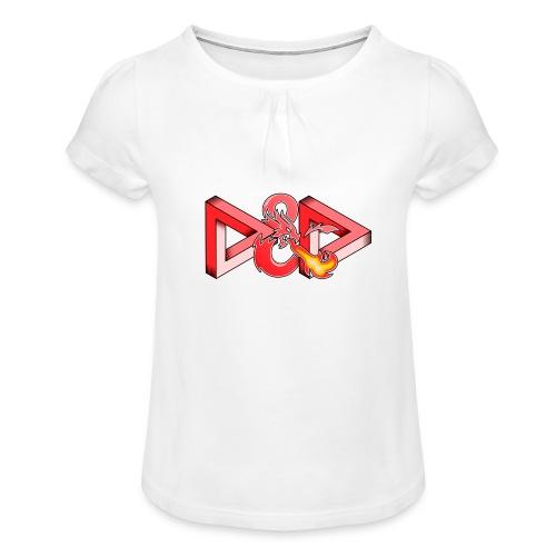 Pysyvät Dungeons and Dragons - dnd d & d - Tyttöjen t-paita, jossa rypytyksiä