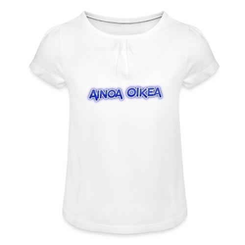 Ainoa oikea - Tyttöjen t-paita, jossa rypytyksiä