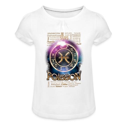 POISSONS - T-shirt à fronces au col Fille