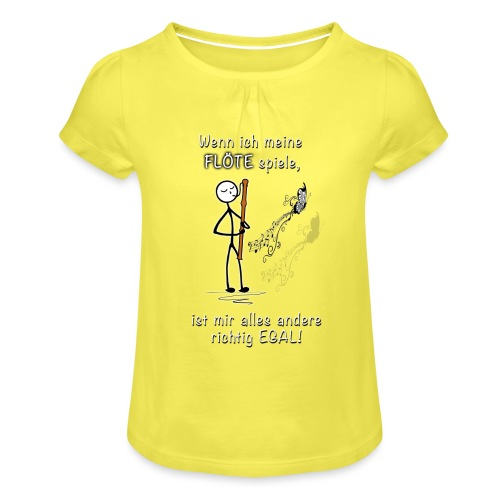 Recorder Love f. dark colours - Girl's T-Shirt with Ruffles