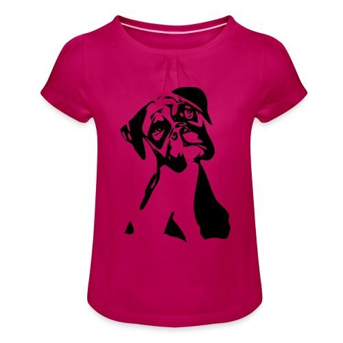 Boxer - Mädchen-T-Shirt mit Raffungen