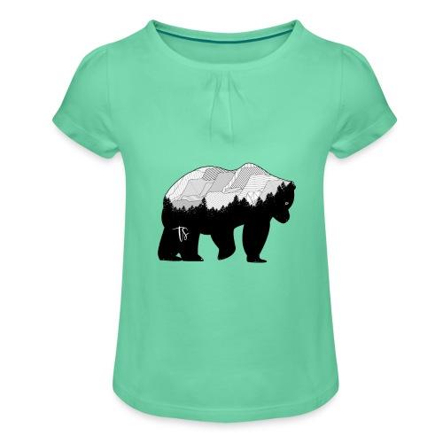 Geometric Mountain Bear - Maglietta da ragazza con arricciatura