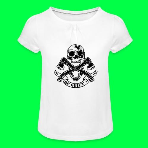 BE QUIET - T-shirt à fronces au col Fille