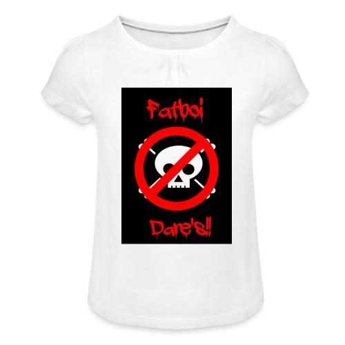 Fatboi Dares's logo - Girl's T-Shirt with Ruffles