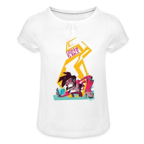 gohan dbz monkey - T-shirt à fronces au col Fille