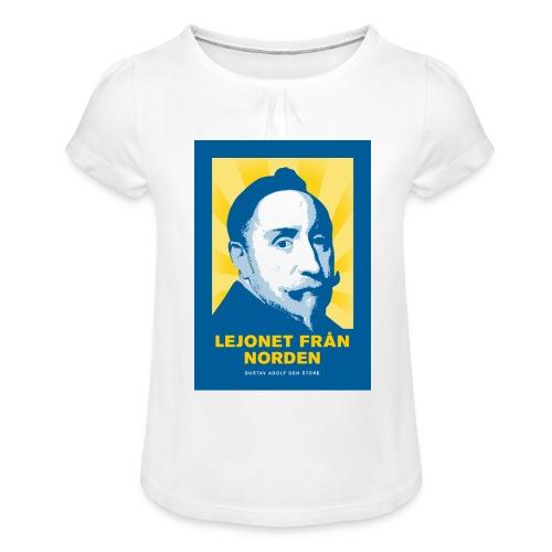 Lejonet från Norden - T-shirt med rynkning flicka