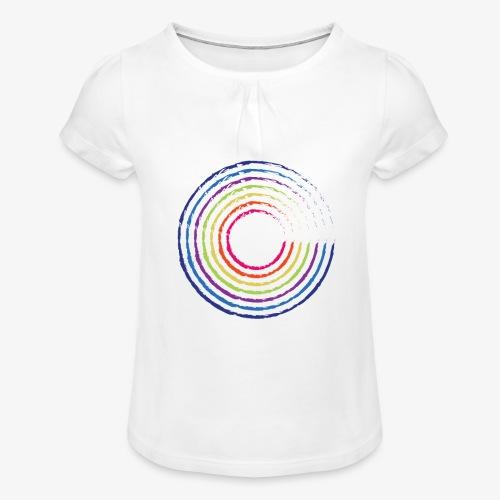 Circle rainbow - Maglietta da ragazza con arricciatura