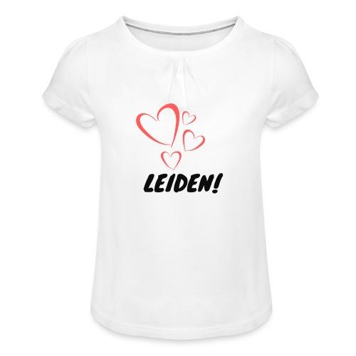 Love Leiden - Meisjes-T-shirt met plooien