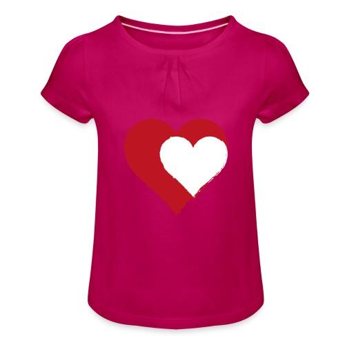 2LOVE - Pige T-shirt med flæser
