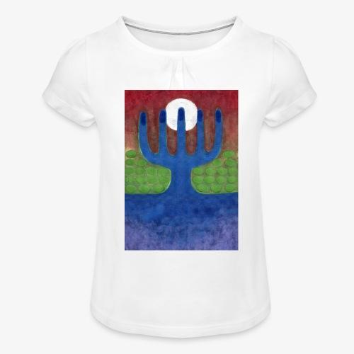 Oaza - Koszulka dziewczęca z marszczeniami