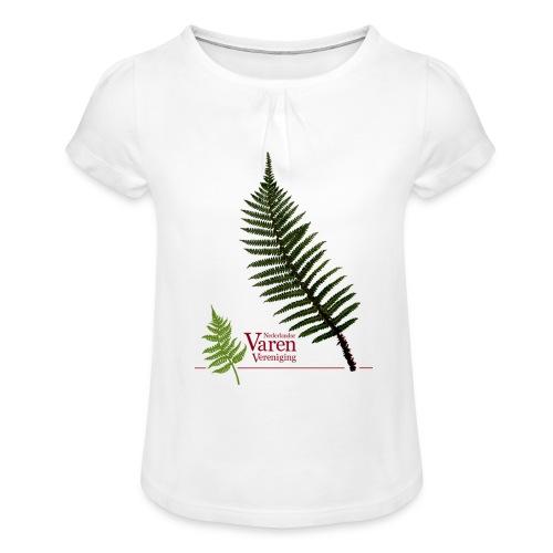 Polyblepharum - Meisjes-T-shirt met plooien