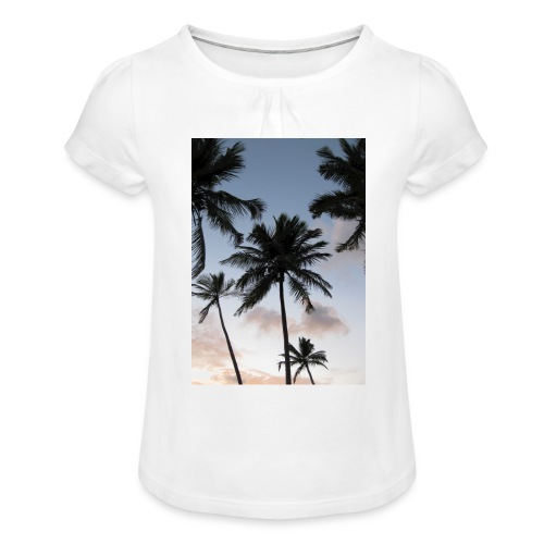 PALMTREES DOMINICAN REP. - Meisjes-T-shirt met plooien