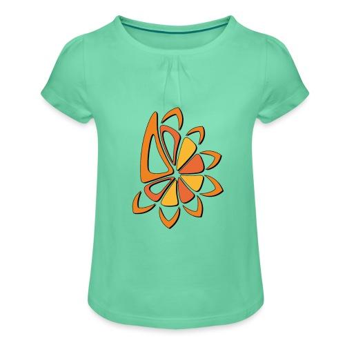 spicchi di sole caldo multicolore - Maglietta da ragazza con arricciatura