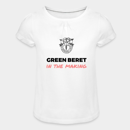 Green Beret in the Making - Girl's T-Shirt with Ruffles