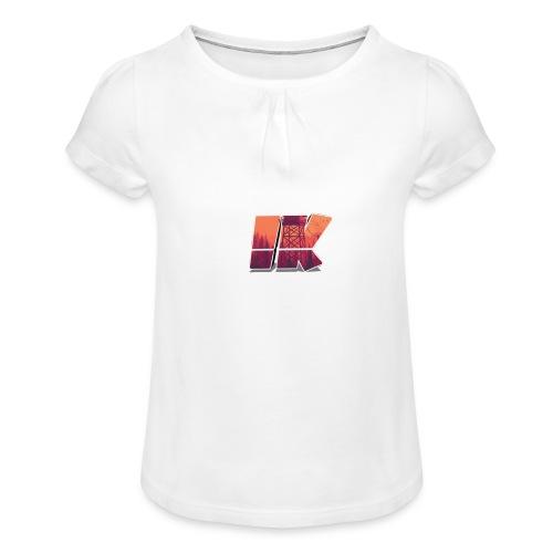Ishaan Kulkarni Logo (1) - Girl's T-Shirt with Ruffles