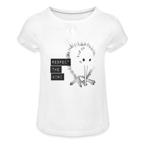 Respect the Kiwi - Mädchen-T-Shirt mit Raffungen