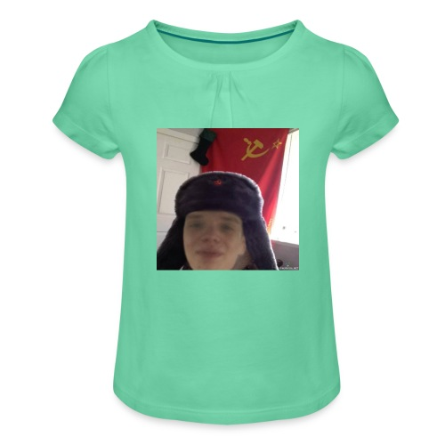 Kommunisti Saska - Tyttöjen t-paita, jossa rypytyksiä