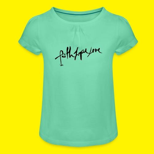 Faith Hope Love - Girl's T-Shirt with Ruffles