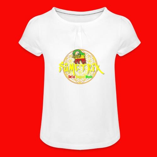 SÜEMTRIX FANSHOP - Mädchen-T-Shirt mit Raffungen