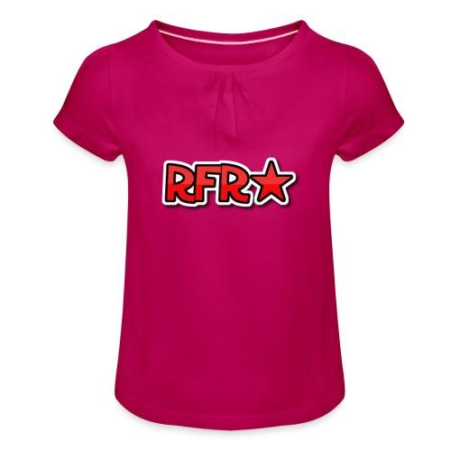 rfr logo - Tyttöjen t-paita, jossa rypytyksiä