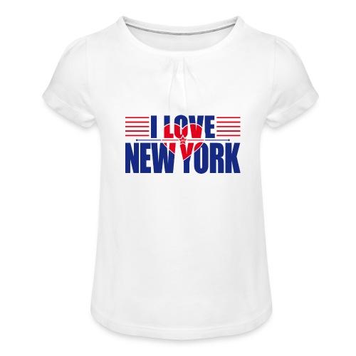 love new york - T-shirt à fronces au col Fille