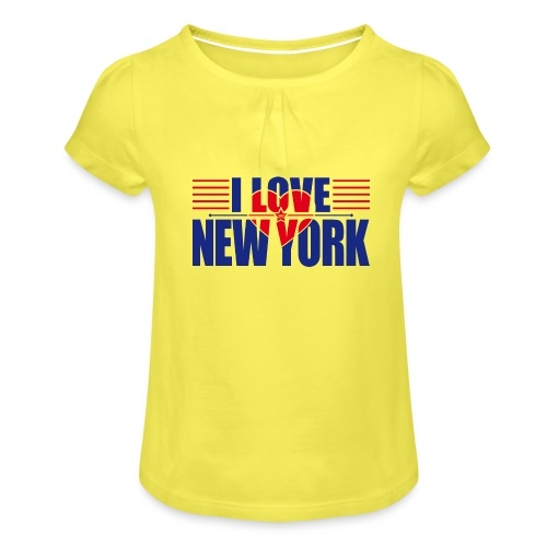 love new york - T-shirt à fronces au col Fille