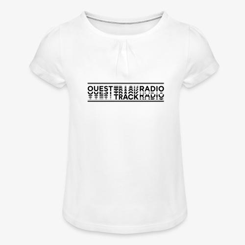 Logo Long noir - T-shirt à fronces au col Fille