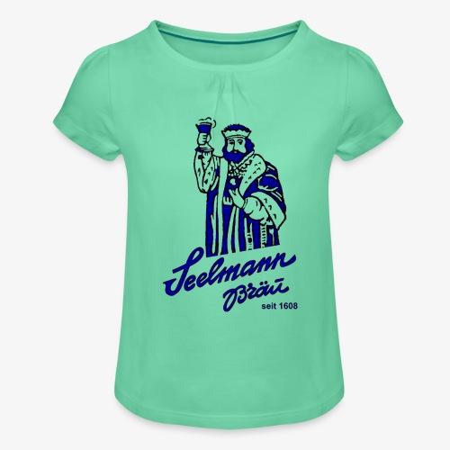krugNovA2 gif - Mädchen-T-Shirt mit Raffungen