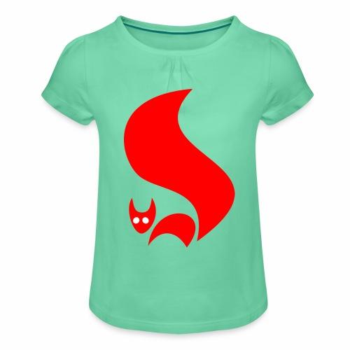 Eichhörnchen - Mädchen-T-Shirt mit Raffungen