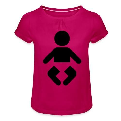 Baby - Mädchen-T-Shirt mit Raffungen