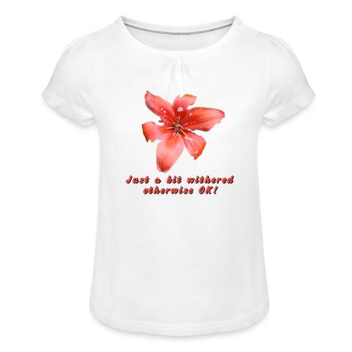 Just a bit withered otherwise ok - Tyttöjen t-paita, jossa rypytyksiä