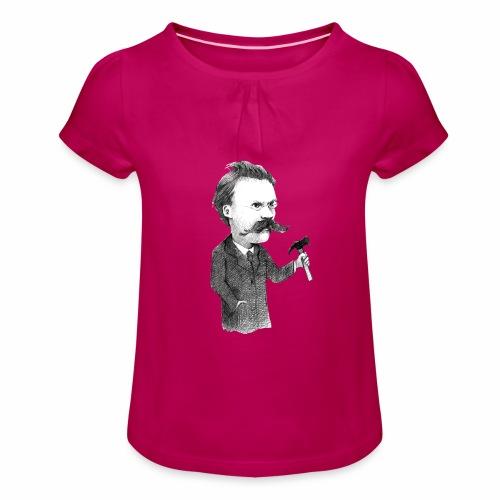 Nietzsche - Camiseta para niña con drapeado
