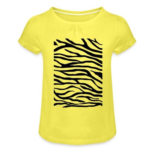 zebra v6 - Meisjes-T-shirt met plooien