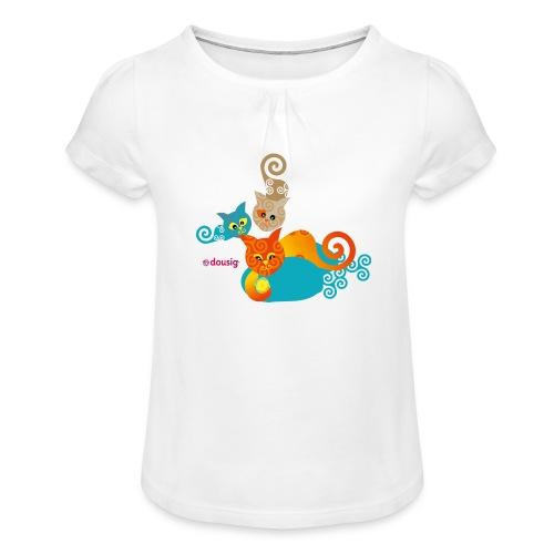 Chatons Dousig - T-shirt à fronces au col Fille