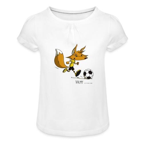 Valmy mascotte - T-shirt à fronces au col Fille